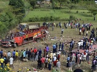 50 die as bus swerves off steep slope in Kenya