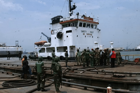 Army hands over illegally refined crude to EFCC