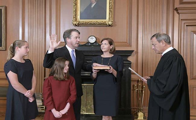 Brett Kavanaugh sworn-in as U.S. Supreme Court Justice