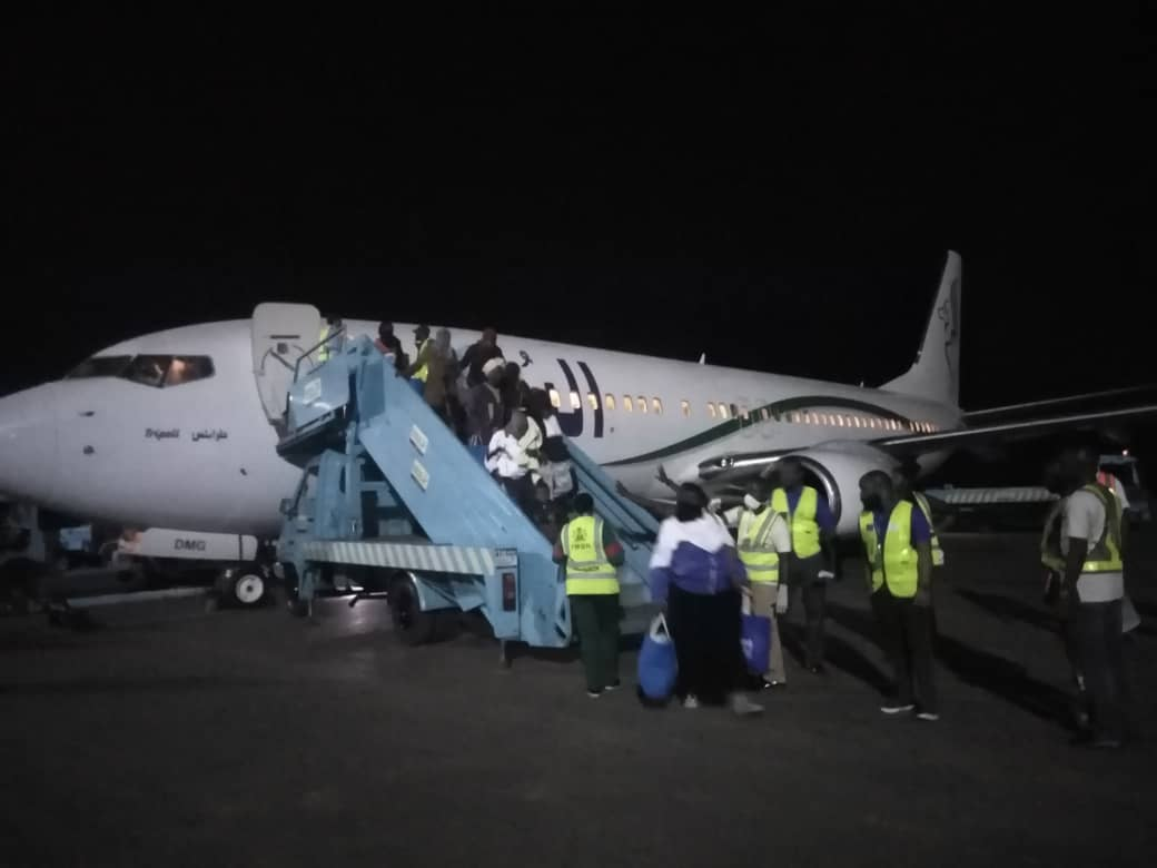 NEMA receives 50th flight of assisted voluntary returnees from Libya
