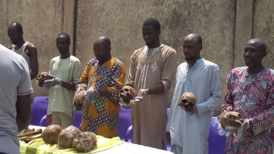 Police parade suspects over kidnap, murder & trade in human body parts in Kwara