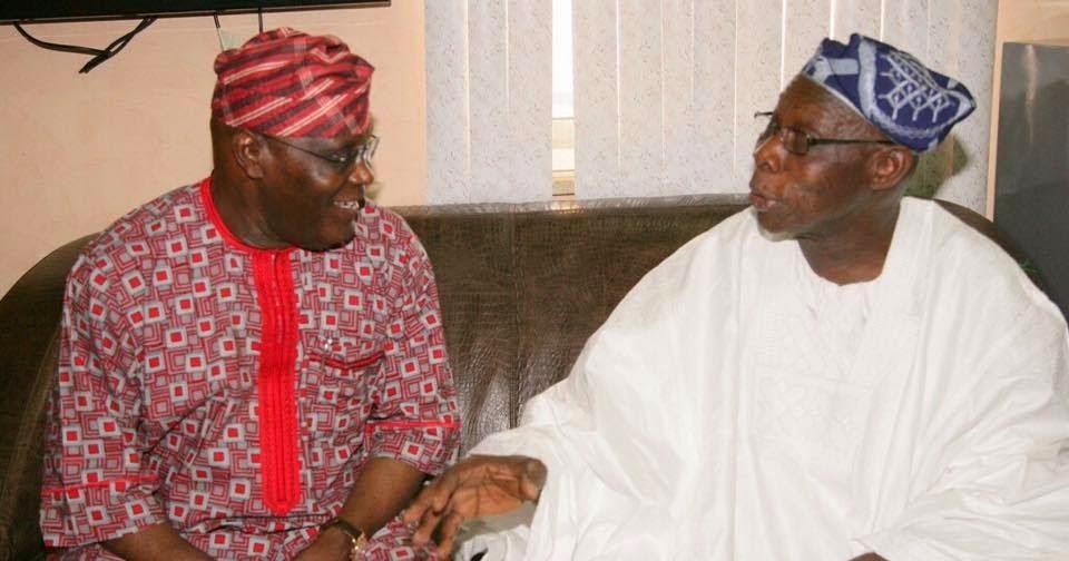 BREAKING: Atiku, Secondus in a closed door meeting with Obasanjo