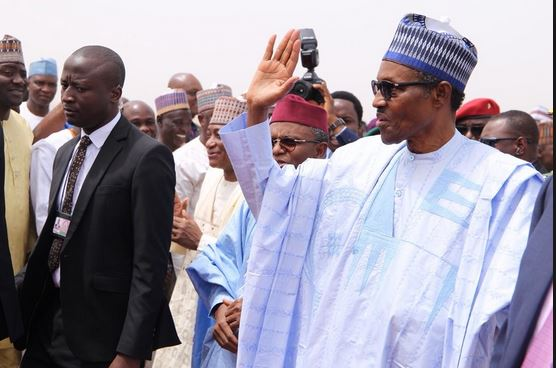 President Buhari arrives Kaduna, set to be briefed by Gov El- Rufai on state crisis