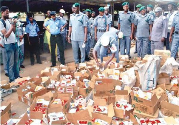 Contraband seizure: customs strike force impounds illegal imports in Zone C