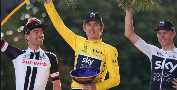 Please return my 'Tour De France trophy' – Geraint Thomas
