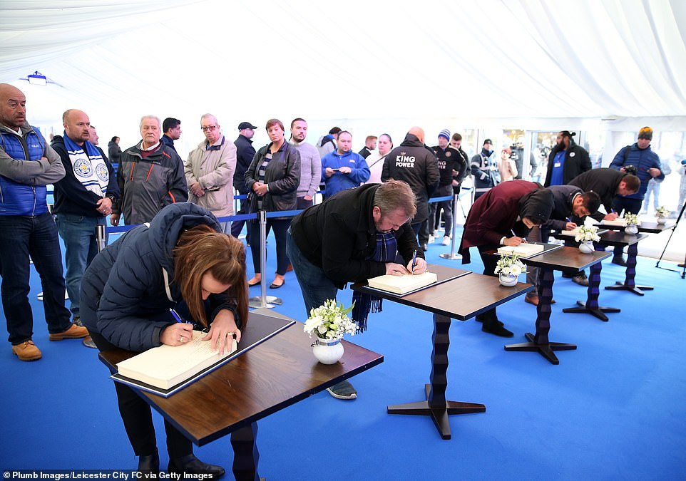 Leicester city opens condolence book for late club owner Vichai