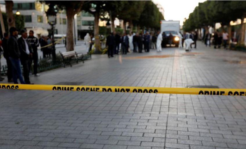 Woman blows herself up in Tunis, wounding at least 15 people