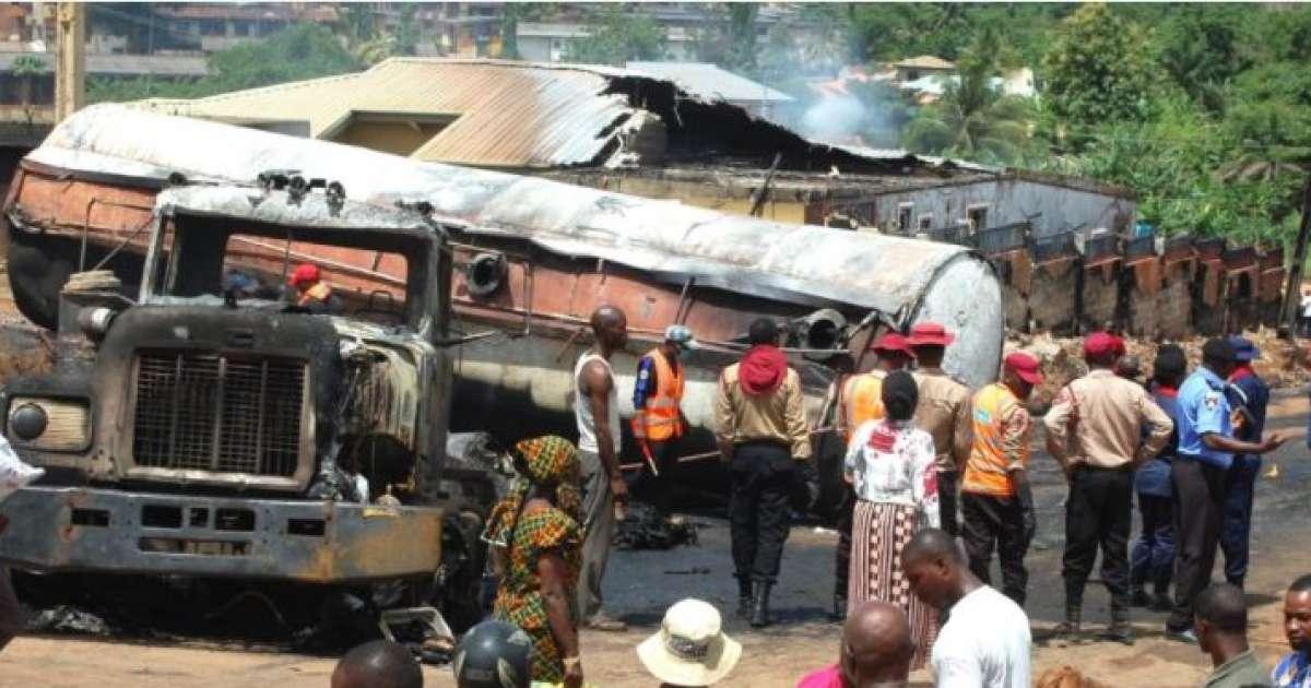 Petrol laden tanker catches fire in Akure, destroys shops