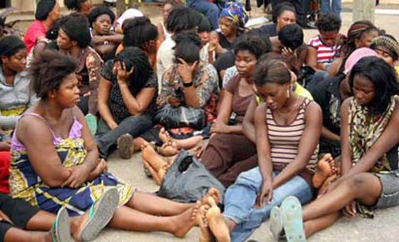 NIS arrests 8 Ghanaian ladies at MMIA for attempted human trafficking