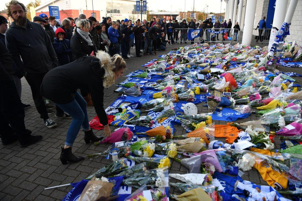 Leicester helicopter tragedy: fans mourn club owner following crash