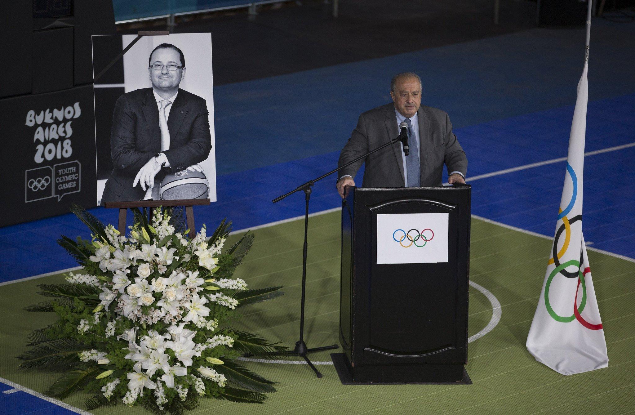 IOC President Bach pays emotional tribute to Baumann