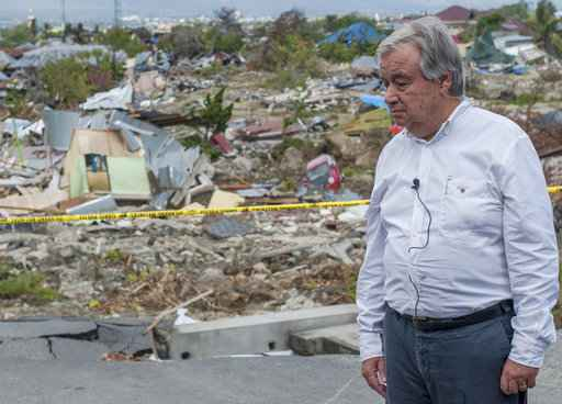 Indonesian quake:UN chief praises 'resilience' of local residents