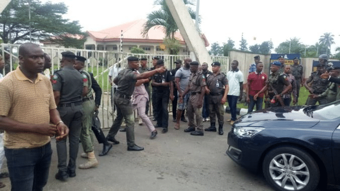Police open Akwa Ibom Assembly complex after three days