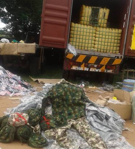 Customs intercept container load of military uniforms, other contraband in PortHarcourt