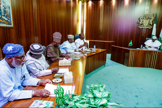 Buhari's meeting with govs on minimum wage inconclusive