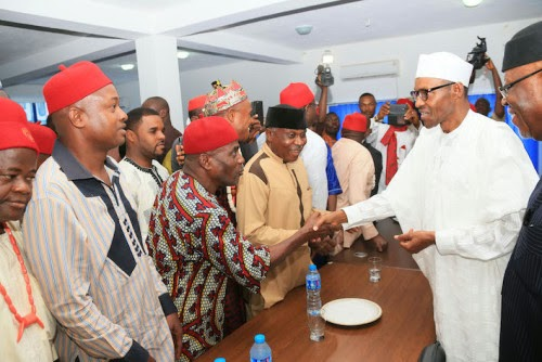 Igbo group drums support for Buhari