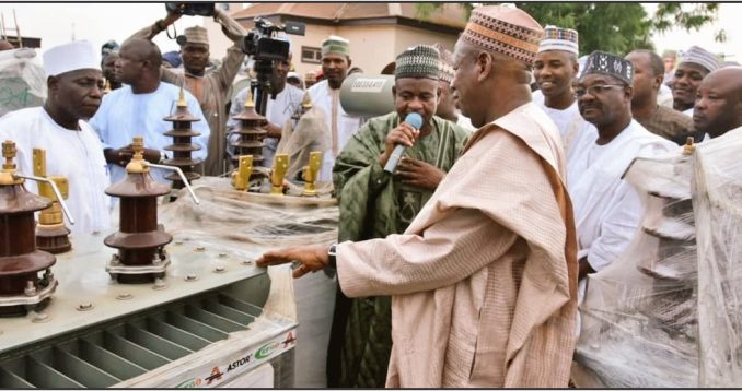 Ganduje donates 100 transformers to rural dwellers