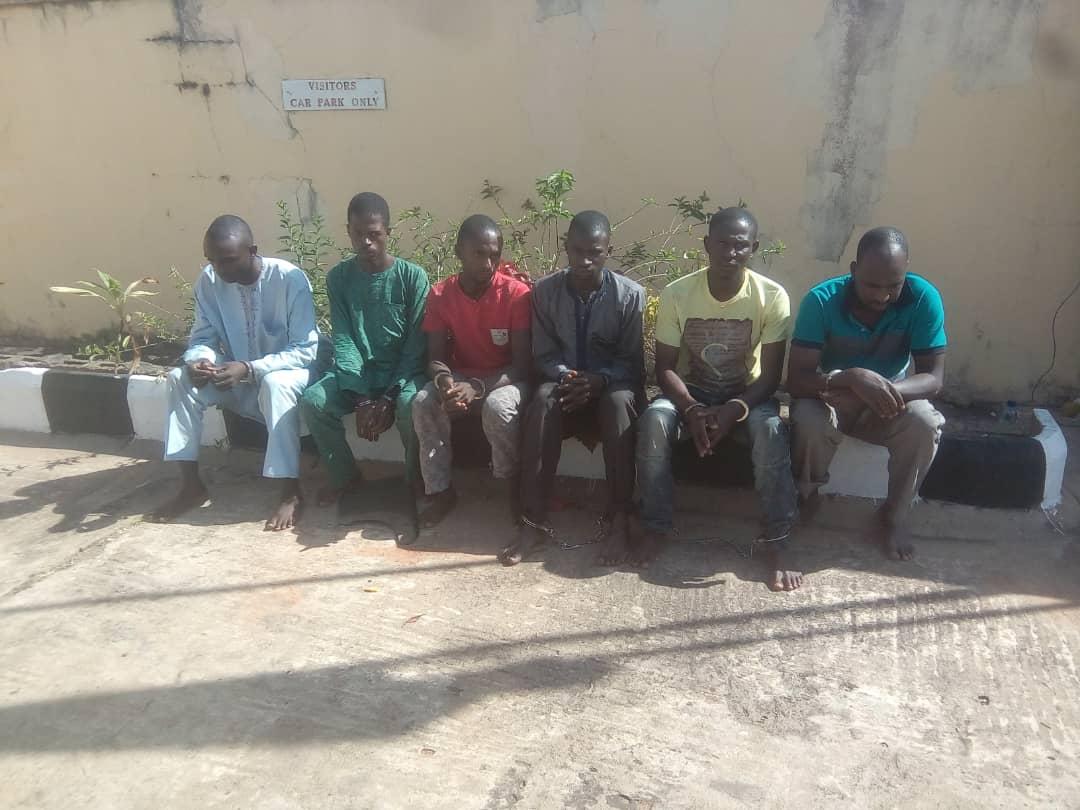 DSS parade suspected murderers of Agom Adara, Dr. Maiwada Galadima
