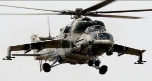 Nigerian war helicopters strike Boko Haram targets