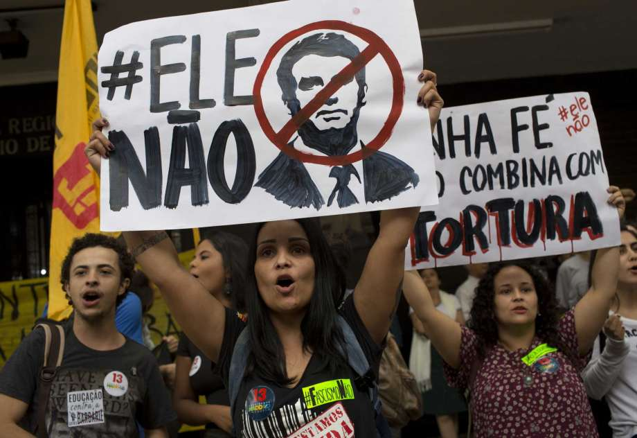 Court orders police not  to intervene as students protest against  Brazil's President elect, Bolsonaro