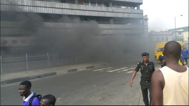 CSS Bookshop house up in flames
