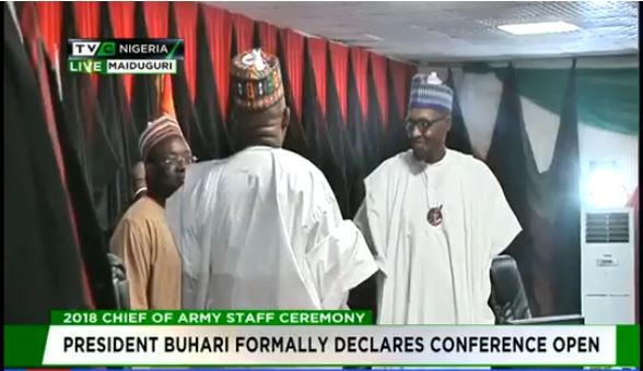 Buhari declares Chief of Army Staff conference open in Maiduguri