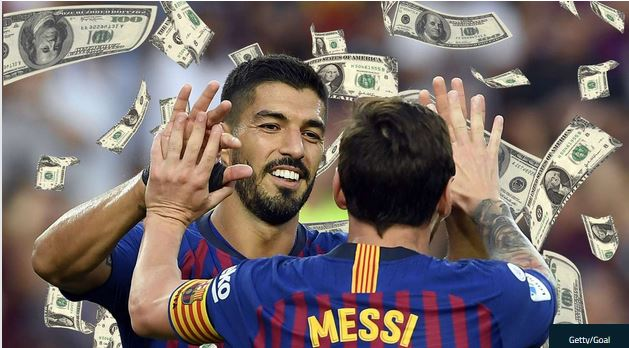 Barcelona's £10m per player wages set new record