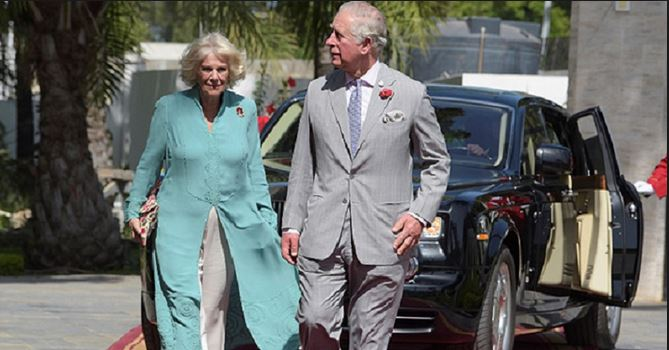The Duke of Cornwall arrives Lagos