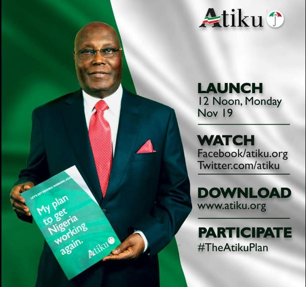 Atiku to commence campaign with launch of policy document