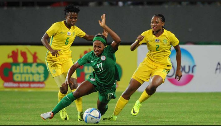 Super Falcons tackle Bayana Bayana in the finals of Women cup of Nations