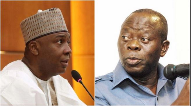 Oshiomhole threatens to sue Saraki over allegations of financial inducement