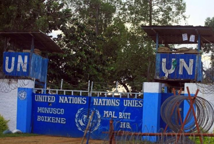 Mortar bombs fired at UN peacekeeping base in eastern Congo