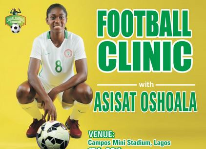 4th edition of Asisat Oshoala foundation holds 17th-20th Dec