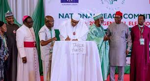 Atiku, Ezekwesili absent as Buhari, others sign peace accord