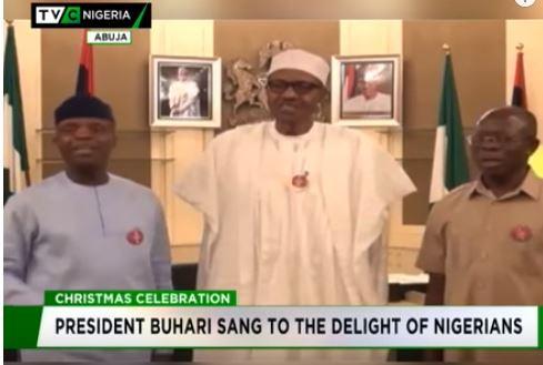 Christmas: Buhari, Osinbajo, Oshiomhole sing to delight of Nigerians