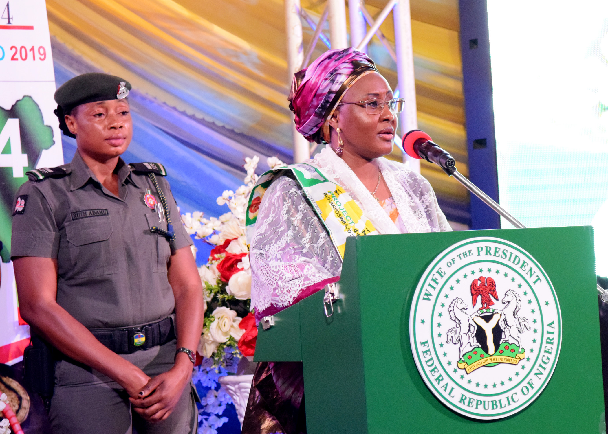 Aisha Buhari urges Nigerian women to vote Buhari again