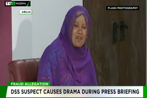 DSS suspect causes drama during press briefing