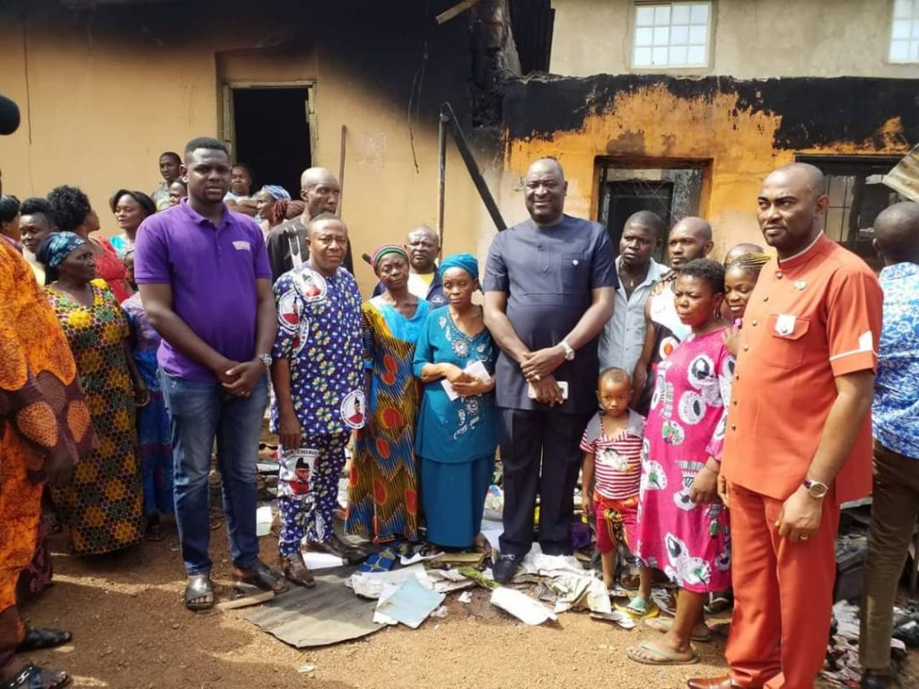 Ugwuanyi donates N6m to Christmas day fire disaster victims
