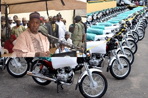 Masari distributes 361 motorcycles to Agric extension workers