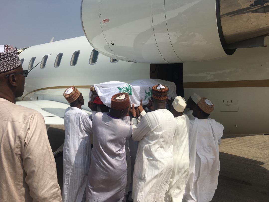 Photos: Body of ex-President Shagari leaves Abuja for Sokoto