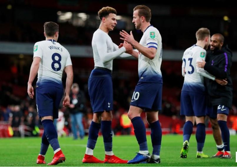 Tottenham take revenge on Arsenal to reach League Cup semis