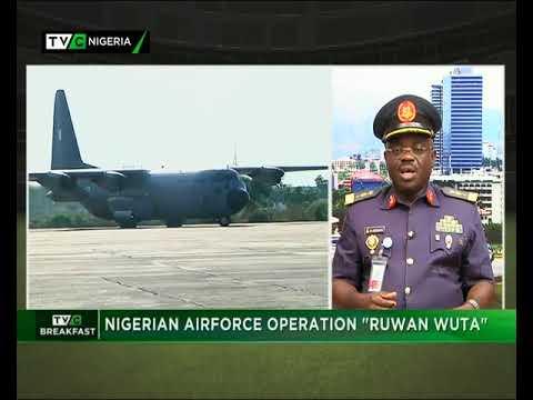 TVC Breakfast 28th September 2017    Nigerian Air Force Operation 'Ruwan Wuta'