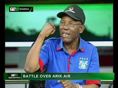 TVC Breakfast September 14t 2017   Battle over Arik Air