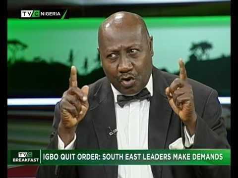 TVC Breakfast 16th June | Igbo Quit Notice