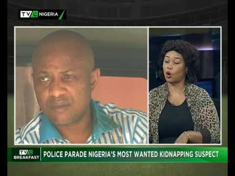 TVC Breakfast 12th June 2017| Police parade Nigeria's most wanted Kidnapping suspect