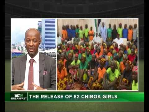 The release of 82 Chibok Girks