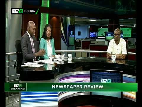 TVC Breakfast 22nd May 2018 | Newspaper Review with Charles Ideho