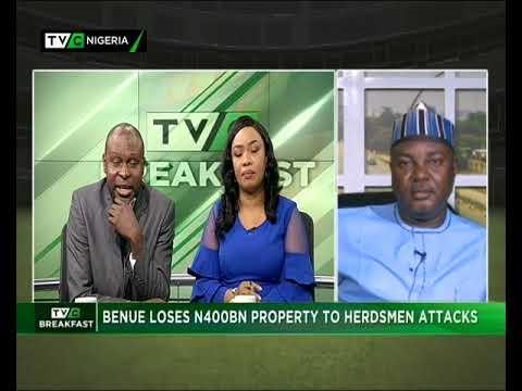TVC Breakfast 14th June 2018 | Benue loses N400bn property to herdsmen attacks