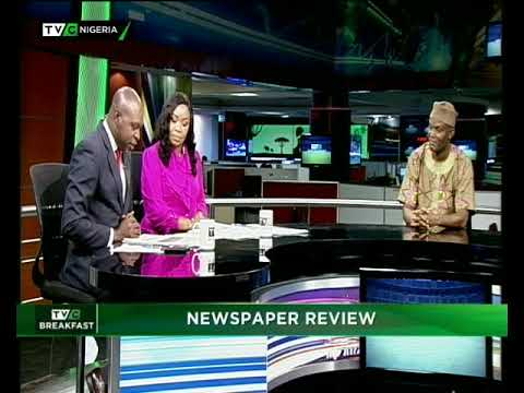 TVC Breakfast 19th June| Newspaper Review with Charles Ideho