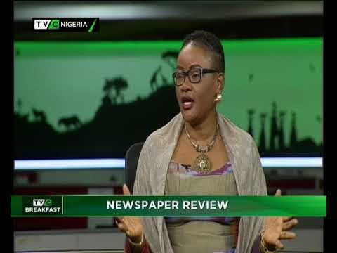 TVC Breakfast 2nd Nov., 2018|  Newspaper Review